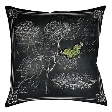 Manual Woodworkers & Weavers Chalkboard Botanical 1 Indoor/Outdoor Throw Pillow