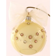 Eva Design Rose Pearl Necklace Ornament