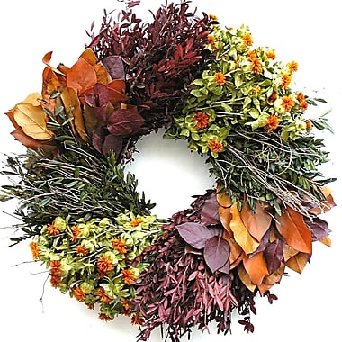 Dried Flowers and Wreaths LLC 22'' Autumn Wheel Wreath
