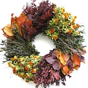Dried Flowers and Wreaths LLC 22'' Autumn Wheel Wreath