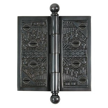 Brass Elegans 4'' H 4'' W Butt/Ball Bearing Single Door Hinge; Dark Bronze