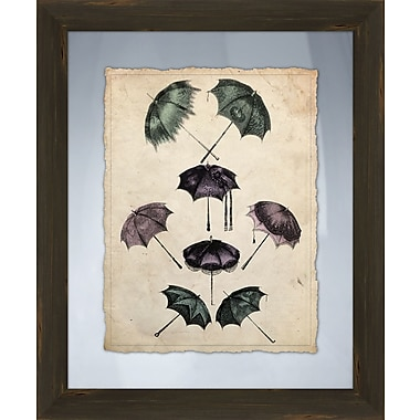 PTM Images Umbrellas II Framed Graphic Art
