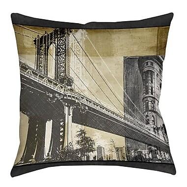 Manual Woodworkers & Weavers Metropolitan Collage 2 Indoor/Outdoor Throw Pillow