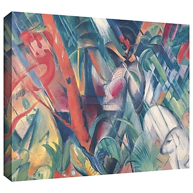 ArtWall 'In the Rain' by Franz Marc Painting Print on Wrapped Canvas; 18'' H x 24'' W