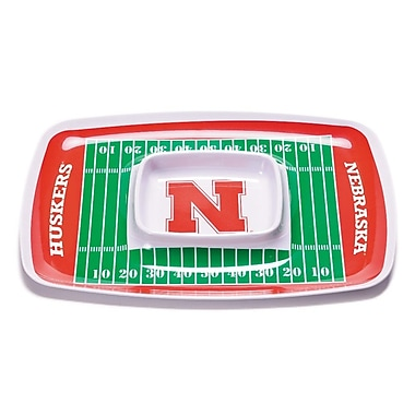 BSI Products NCAA Melamine Chip and Dip Platter; Nebraska Cornhuskers