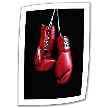 ArtWall Red Gloves' by Dan Holm Photographic Print on Rolled Canvas; 22'' H x 16'' W