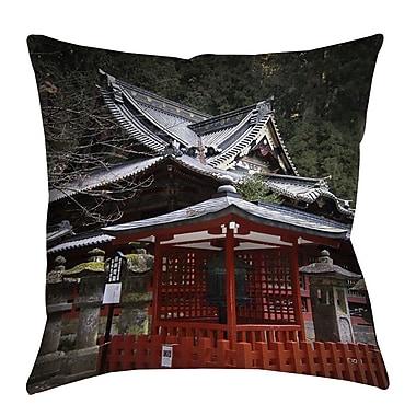 Manual Woodworkers & Weavers Nikko Monastery Building Indoor/Outdoor Throw Pillow