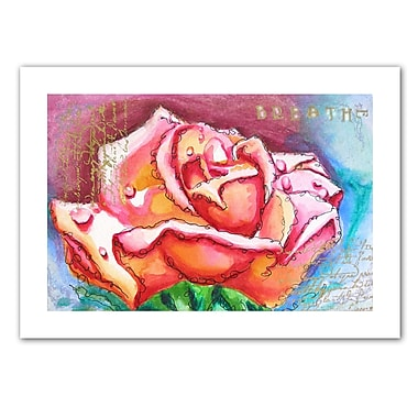 ArtWall Pink Rose Dew' by Susi Franco Painting Print on Rolled Canvas; 36'' H x 48'' W