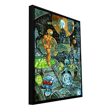 ArtWall 'Robots' by Luis Peres Framed Graphic Art on Wrapped Canvas; 48'' H x 32'' W