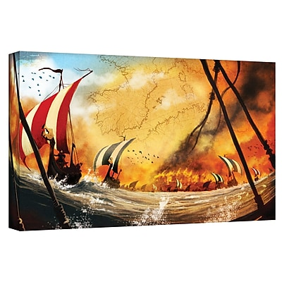 ArtWall 'Old Times 2' by Luis Peres Graphic Art on Wrapped Canvas; 18'' H x 36'' W
