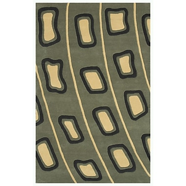 Noble House Decor Light Olive Green Area Rug; 5' x 7'6''