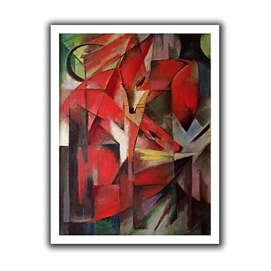 ArtWall The Fox' by Franz Marc Graphic Art on Rolled Canvas; 22'' H x 18'' W