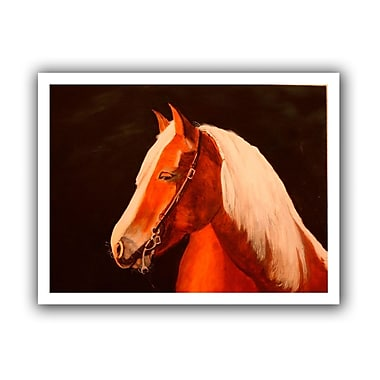 ArtWall Horse Painted' by Lindsey Janich Graphic Art on Rolled Canvas; 28'' H x 36'' W