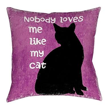 Manual Woodworkers & Weavers Nobody Loves Me Like My Cat Indoor/Outdoor Throw Pillow