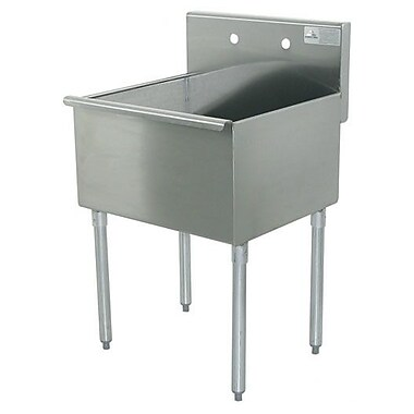 Advance Tabco 600 Series Single 1 Compartment Floor Service Sink; 41'' H x 21'' W x 18'' D