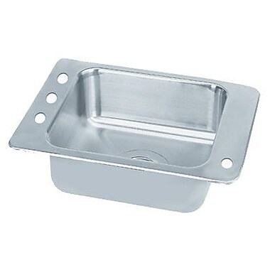 Advance Tabco Single Seamless Bowl Classroom Drop-in Sink; 25'' W x 17'' D