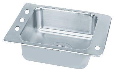 Advance Tabco Single Seamless Bowl Classroom Drop-in Sink; 31'' W x 18.25'' D