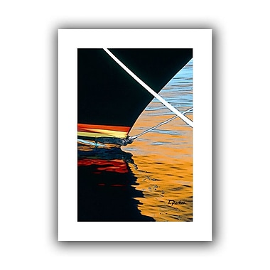 ArtWall Docked' by Linda Parker Photographic Print on Rolled Canvas; 40'' H x 28'' W