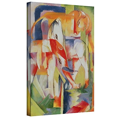 ArtWall 'Elephant, Horse and Cow' by Franz Marc Painting Print on Wrapped Canvas; 32'' H x 24'' W