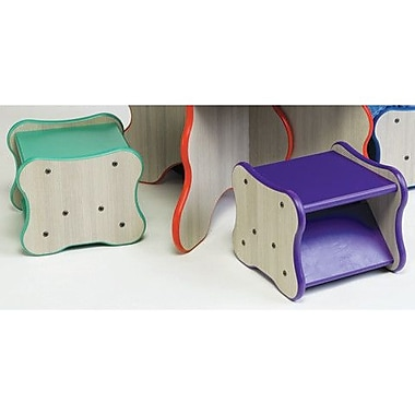 Playscapes Wavy Legs Kids Stool; Speckletone / Purple