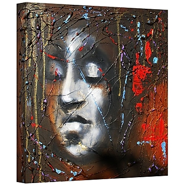 ArtWall 'Last Thoughts' by Susi Franco Painting Print on Wrapped Canvas; 14'' H x 14'' W