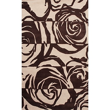 nuLOOM Lovella Hand Tufted Brown Area Rug