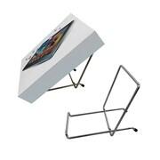 """Futech MWE008 Metal Countertop Easel, 7-1/4"""" x 3-1/4"""" x 4-3/4"""", Chrome, 10/Pack"""