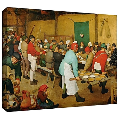 ArtWall 'Peasant Wedding' by Pieter Bruegel Painting Print on Wrapped Canvas; 24'' H x 32'' W