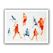 ArtWall Swuahs Players' by Lindsey Janich Graphic Art on Rolled Canvas; 28'' H x 36'' W