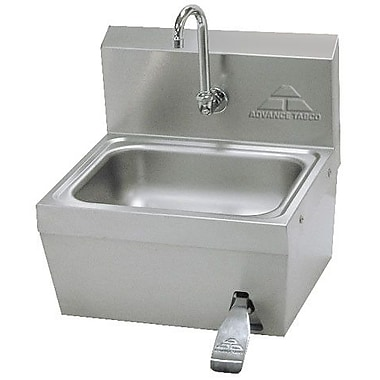 Advance Tabco 17.25'' x 15.25'' Single Hands Free Hand Sink w/ Faucet
