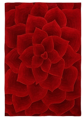 nuLOOM Moderna Hand-Tufted Red Area Rug; Rectangle 5' x 8'