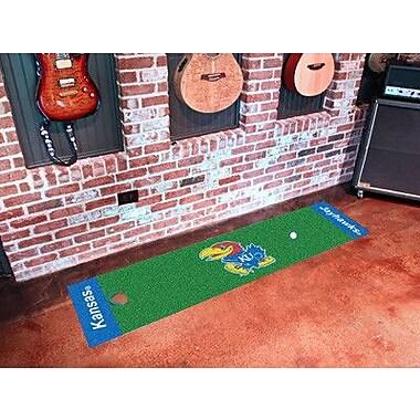 FANMATS NCAA University of Kansas Putting Green Doormat