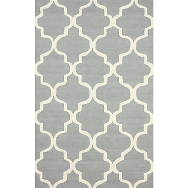 nuLOOM Holly Hand Tufted Gray Area Rug; 4' x 6'