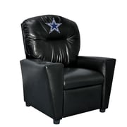 Imperial NFL Kids Faux Leather Recliner w/ Cup Holder; Dallas Cowboys