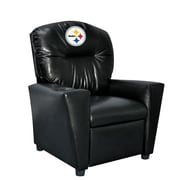 Imperial NFL Kids Faux Leather Recliner w/ Cup Holder; Pittsburgh Steelers