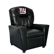 Imperial NFL Kids Faux Leather Recliner w/ Cup Holder; New York Giants
