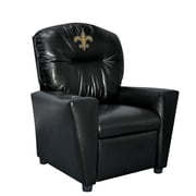 Imperial NFL Kids Faux Leather Recliner w/ Cup Holder; New Orleans Saints