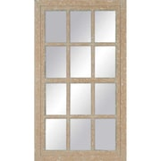 Paragon Aged Painted Windowpane Mirror