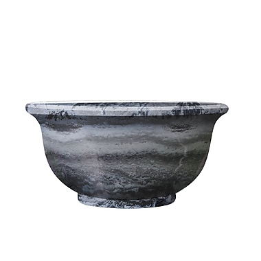Griffith Creek Designs Fiber Clay Pot Planter; Grey