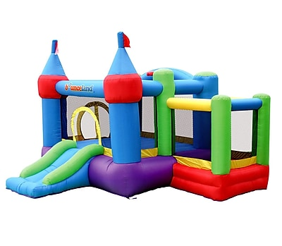 Bounceland Inflatable Dream Castle Bounce House w/ Ball Pit