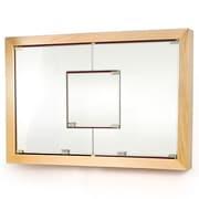 D'Vontz MDV Modular Cabinetry 38.5'' x 26.5'' Surface Mount Medicine Cabinet; Maple