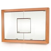 D'Vontz MDV Modular Cabinetry 38.5'' x 26.5'' Surface Mount Medicine Cabinet; Golden Oak