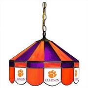 Wave 7 NCAA Wide Swag Hanging Lamp; Clemson