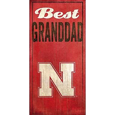 Fan Creations NCAA 'Best Granddad' Graphic Art Print; University of Nebraska