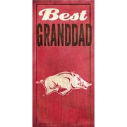 Fan Creations NCAA Best Granddad Textual Art Plaque; University of Arkansas