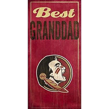 Fan Creations NCAA 'Best Granddad' Graphic Art Print; Florida State University