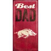 Fan Creations NCAA Best Dad Textual  Art Plaque; University of Arkansas