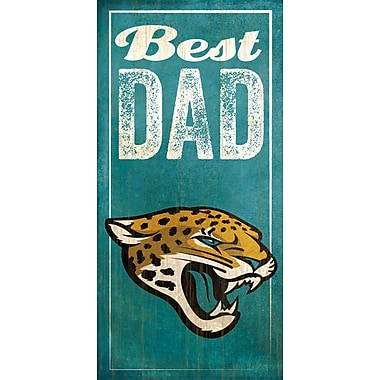 Fan Creations NFL Best Dad Graphic Art Plaque; Jacksonville Jaguars