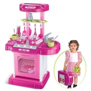 Berry Toys Play and Carry Plastic Play Kitchen; Pink