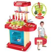 Berry Toys Play and Carry Plastic Play Kitchen; Red